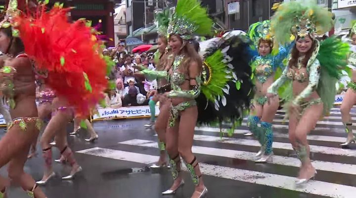Experience an exotic carnival in the downtown district of Asakusa